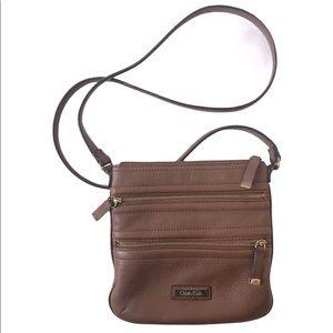 Calvin Klein Real Pebbled Leather Crossbody Bag